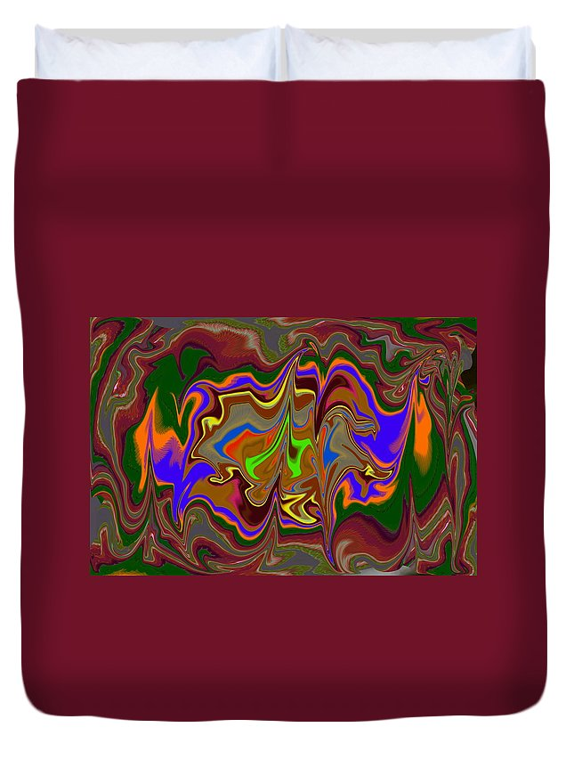 James Smullins Duvet Cover featuring the digital art Distorted Dreams by James Smullins