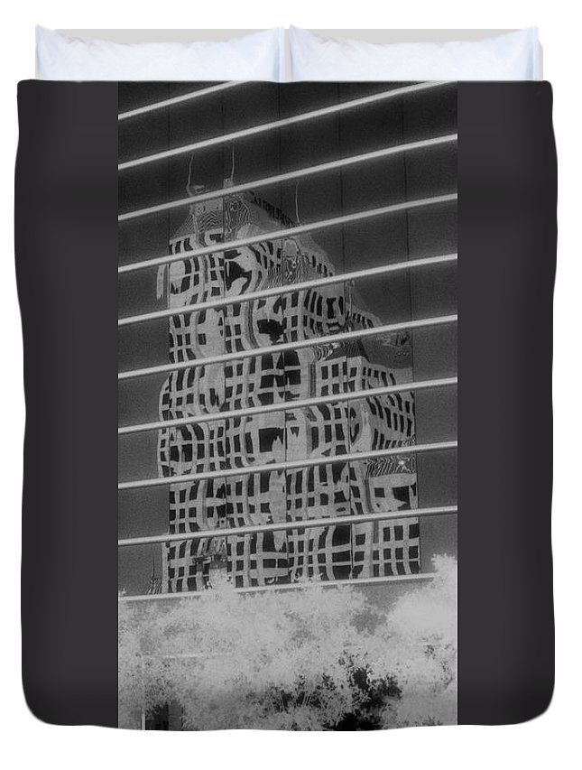 Distorted Duvet Cover featuring the photograph Distorted Views by Richard Rizzo