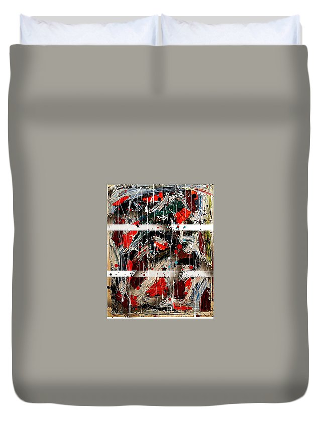 Oil Duvet Cover featuring the painting Divernale by Liberio Art