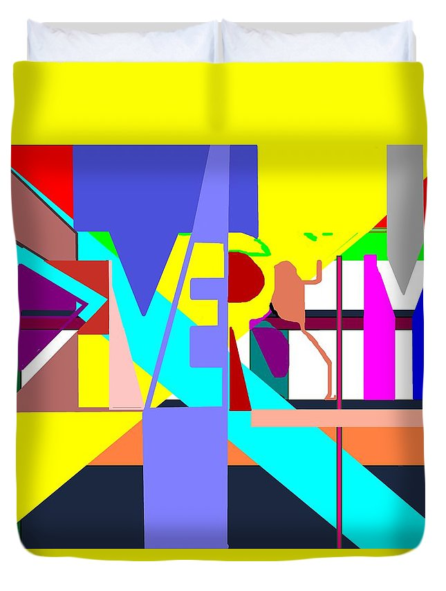 Diversity Duvet Cover featuring the digital art Diversity Enmeshed by Pharris Art
