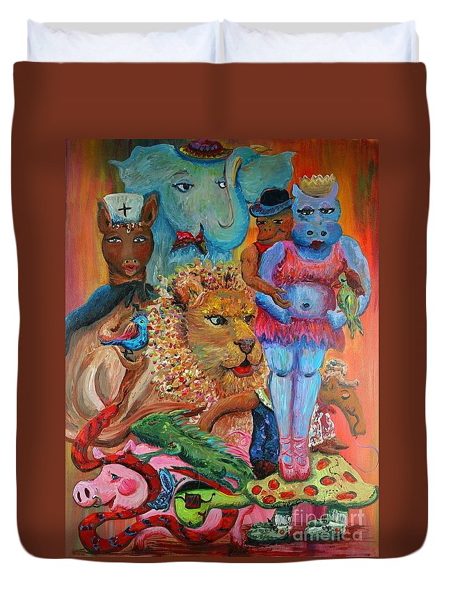 Diversity Duvet Cover featuring the painting Diversity by Nadine Rippelmeyer