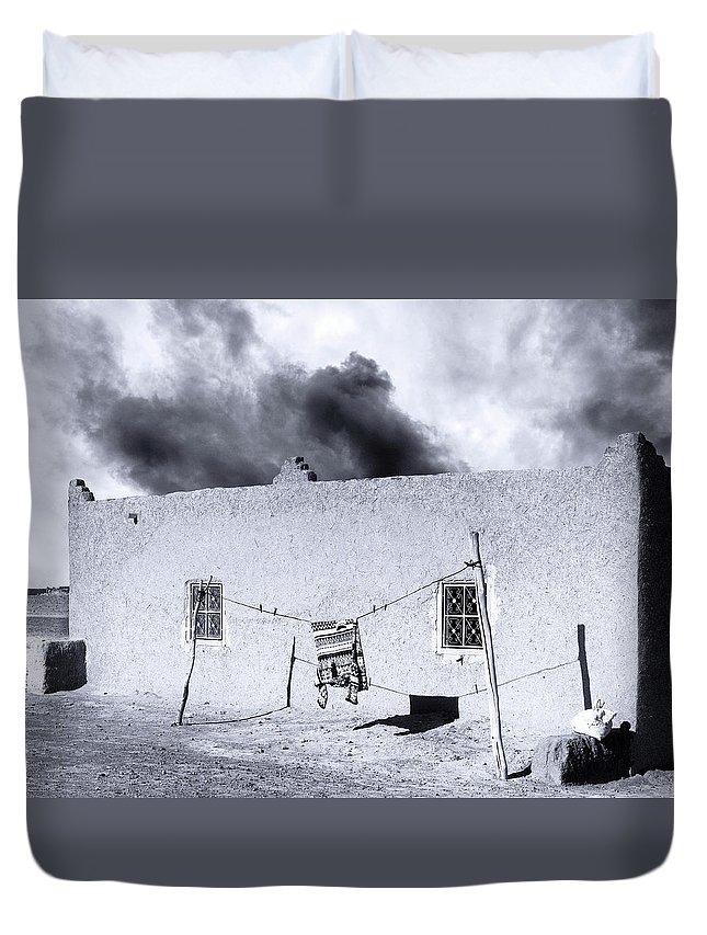 Djellaba Duvet Cover featuring the photograph Djellaba by Dominic Piperata