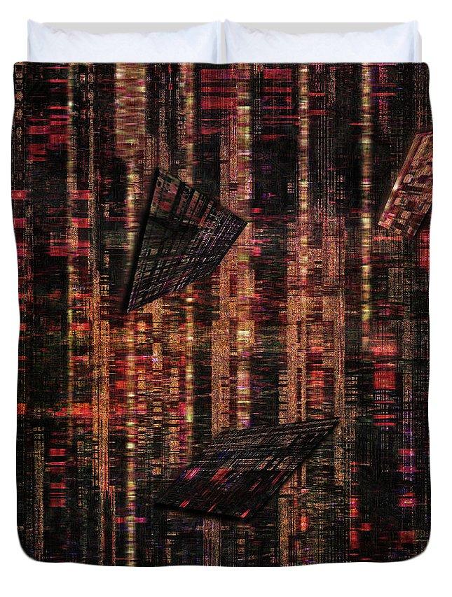 Digital Art Duvet Cover featuring the digital art Dna Test by John Kaiser