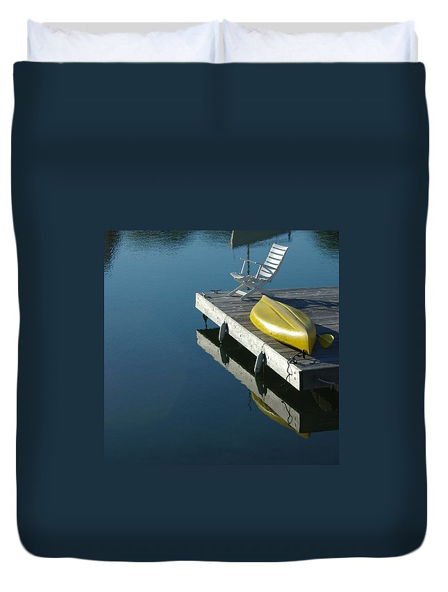 Landscape Nautical New England Kennebunkport Duvet Cover featuring the photograph Dnre0609 by Henry Butz