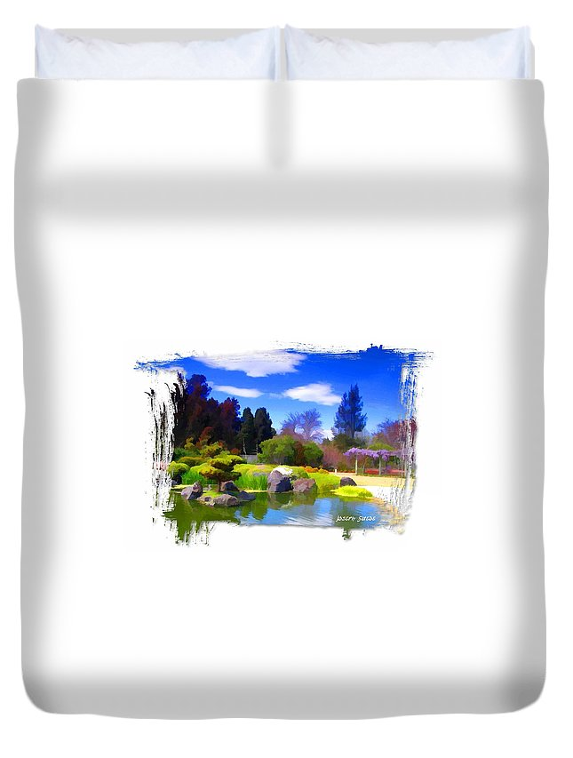 Turtle Island Duvet Cover featuring the photograph Do-00010 Turtle Island Waterview by Digital Oil