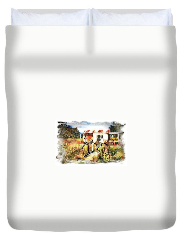Cottage Duvet Cover featuring the photograph Do-00035 Cottage by Digital Oil