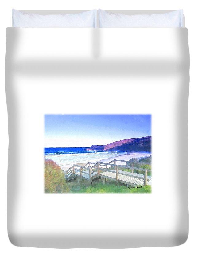 Frasier Beach Duvet Cover featuring the photograph Do-00103 Frasier Beach by Digital Oil