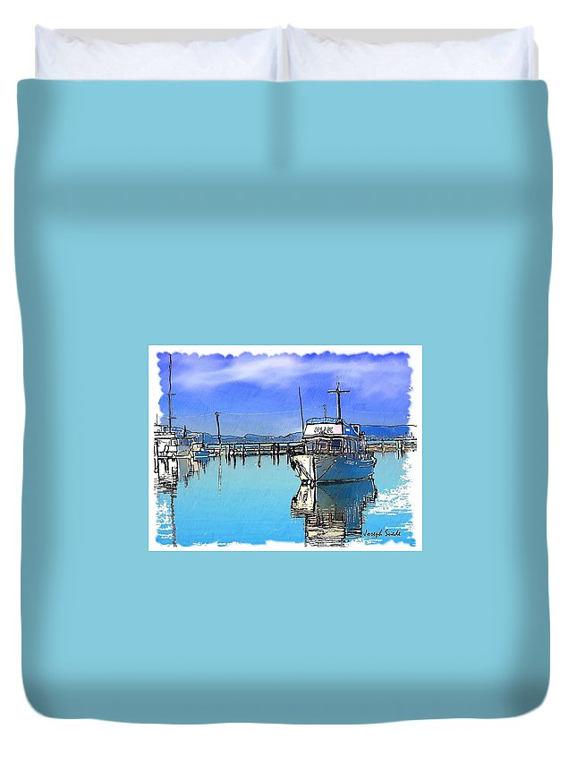 Boat Duvet Cover featuring the photograph Do-00231 Hvk Boat Gosford by Digital Oil