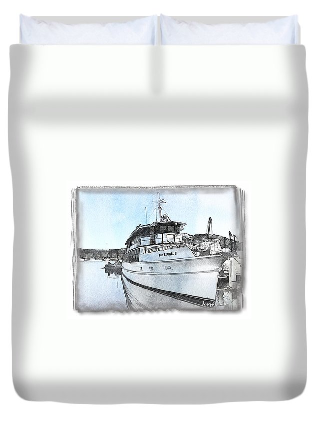 Boat Duvet Cover featuring the photograph Do-00233 Lady Kendall by Digital Oil