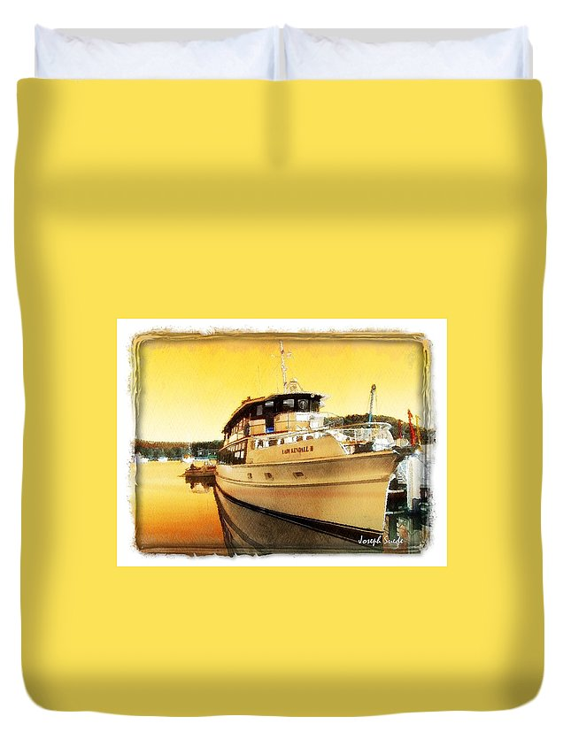 Lady Kendall Duvet Cover featuring the photograph Do-00234 Lady Kendall In Sunset by Digital Oil