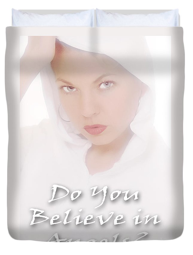 Clay Duvet Cover featuring the photograph Do You Believe In Angels by Clayton Bruster