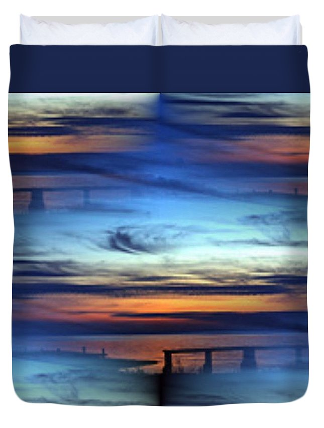 Dock Duvet Cover featuring the photograph Dock Of The Bay by Tim Allen