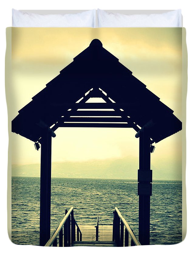 Dock Duvet Cover featuring the photograph Dockside by Bill Hamilton