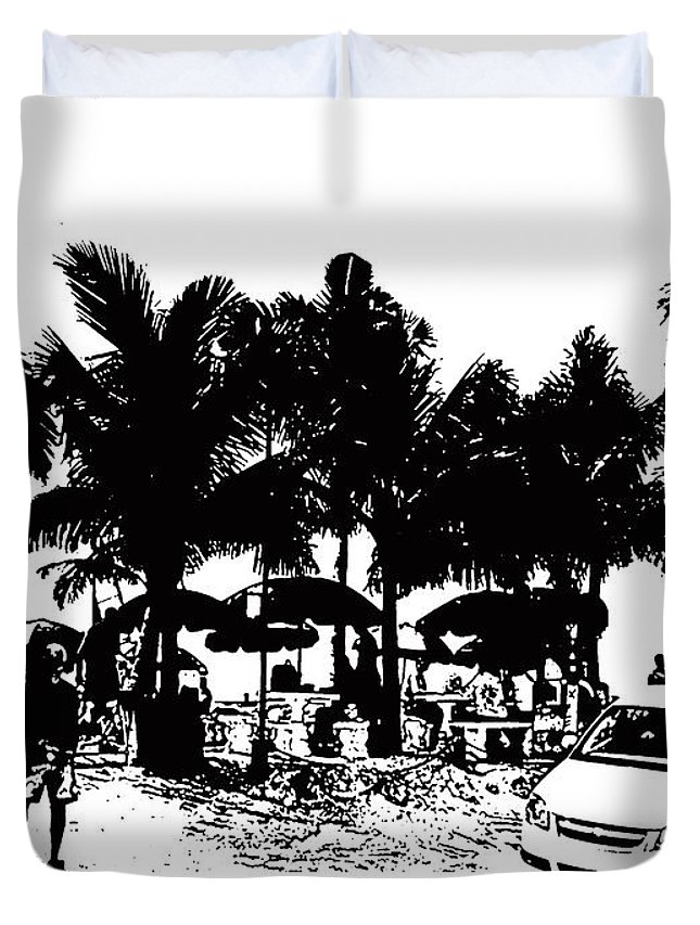Beach Duvet Cover featuring the photograph Doc's Beach House by Laurie Paci