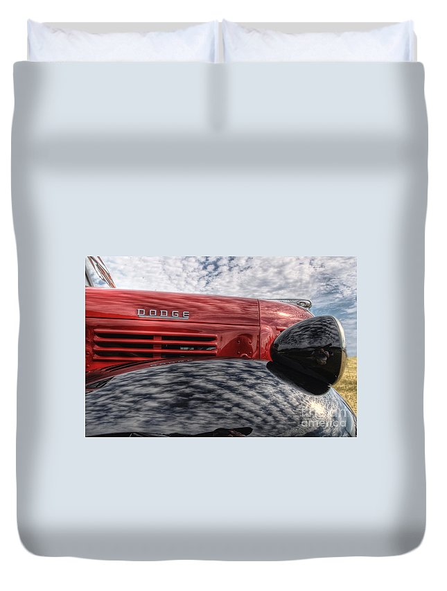 Dodge Duvet Cover featuring the photograph Dodge Truck by Joel Witmeyer