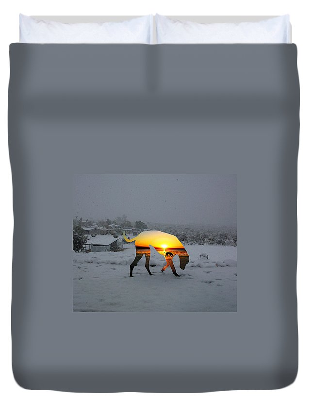 Landscape Duvet Cover featuring the photograph Dog Day Afternoon by Snake Jagger