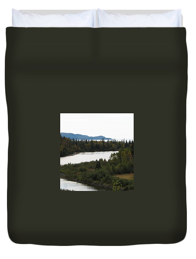 River Duvet Cover featuring the photograph Dogleg by Kelly Mezzapelle