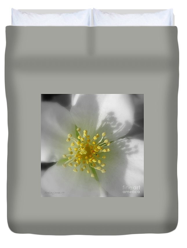 Photography Duvet Cover featuring the photograph Dogwood by Shelley Jones