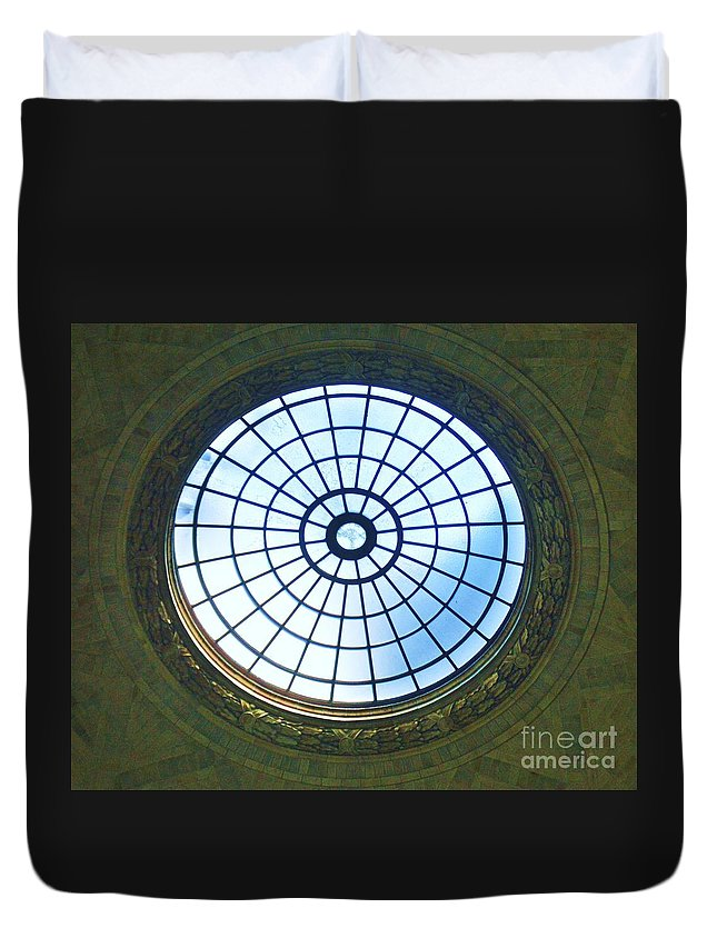 Dome Photography Window Photography Washington Photography National Museum Of Natural History Photography Iconic Image Photography Historic Building Photography Whimsical Photography Canvas Print Metal Frame Poster Print Available On Greeting Cards T Shirts Tote Bags Shower Curtains Throw Pillows Duvet Covers And Phone Cases Duvet Cover featuring the photograph Dome At The Museum by Poet's Eye