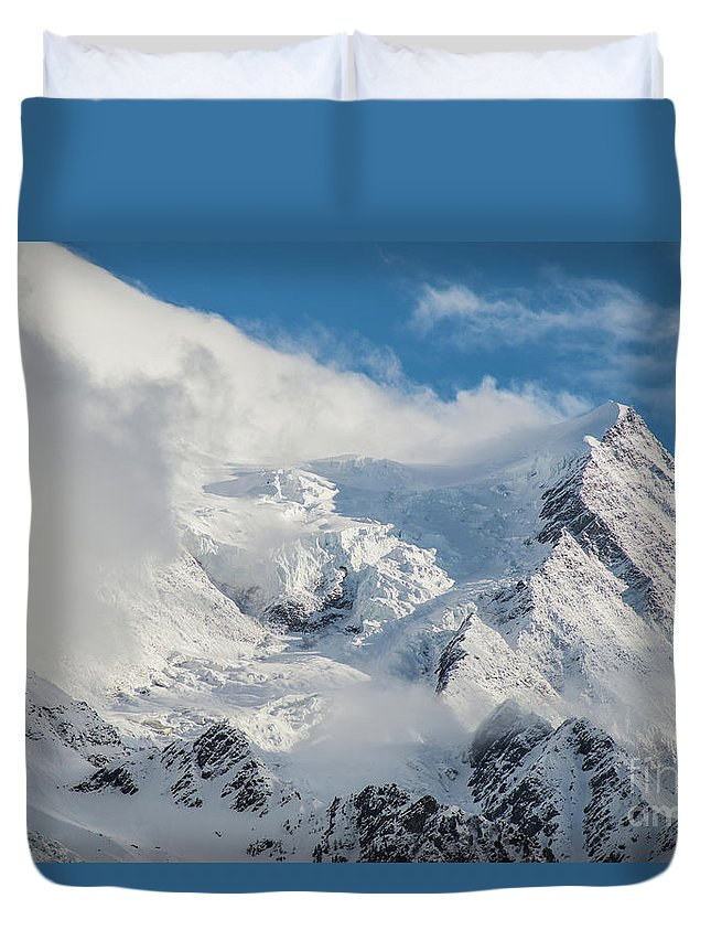 Alps Duvet Cover featuring the photograph Dome Du Gouter In The Clouds by Benjamin Reed