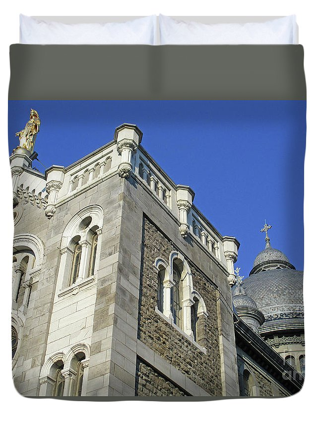 Montreal Duvet Cover featuring the photograph Dome On Sainte Catherine 1 by Randall Weidner