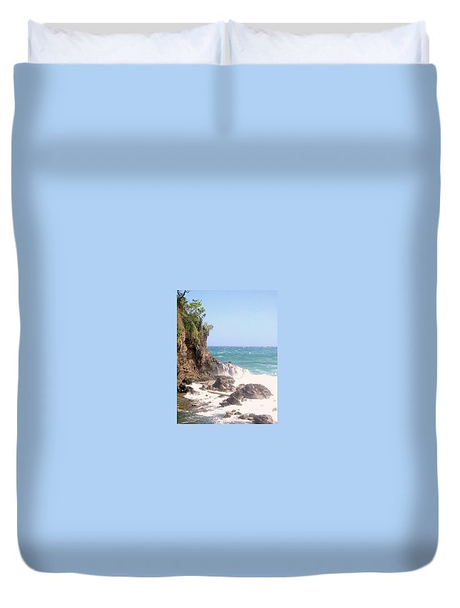 Dominica Duvet Cover featuring the photograph Dominica North Atlantic Coast by Ian MacDonald