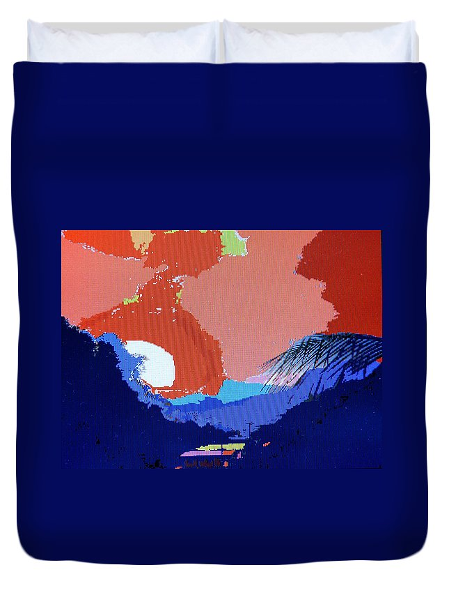 Digital Art Duvet Cover featuring the photograph Dominican Sunset by Ian MacDonald