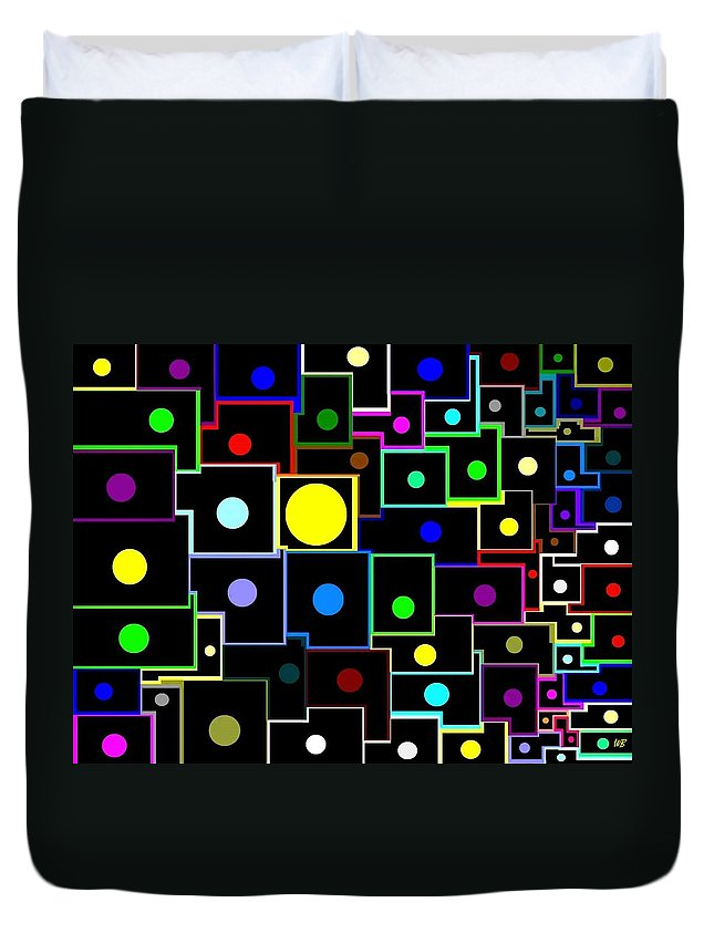 Abstract Duvet Cover featuring the digital art Domino Effect by Will Borden