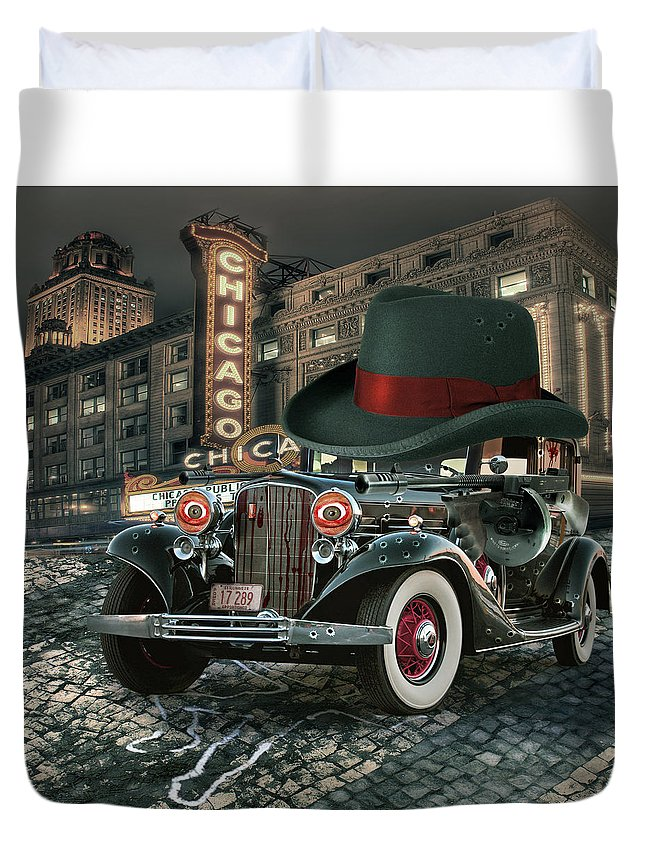 American Duvet Cover featuring the digital art Don Cadillacchio by Marian Voicu