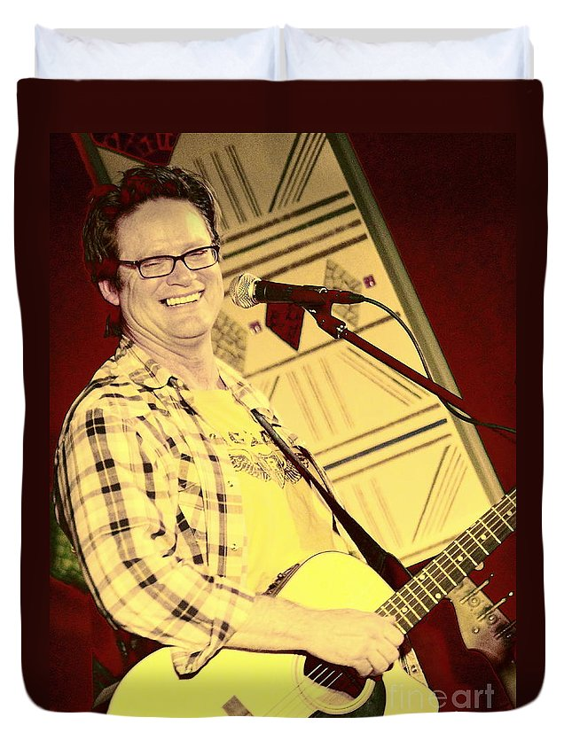 Singer Duvet Cover featuring the photograph Don Lowe by Jesse Ciazza