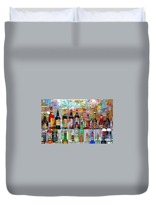 Liquor Duvet Cover featuring the photograph Don Q by Debbi Granruth