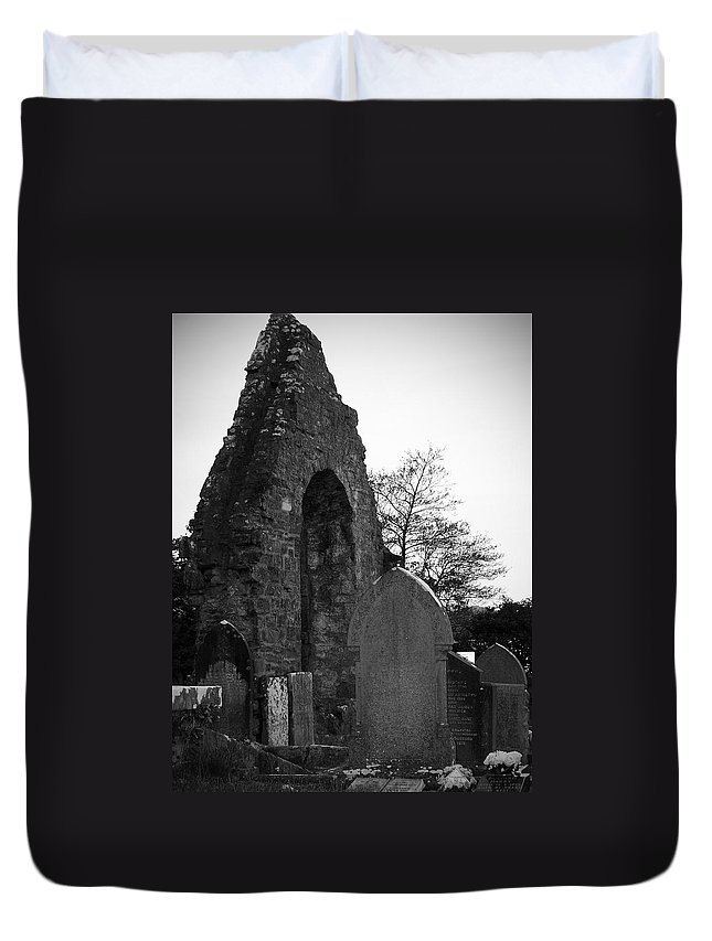Irish Duvet Cover featuring the photograph Donegal Abbey Ruins Donegal Ireland by Teresa Mucha