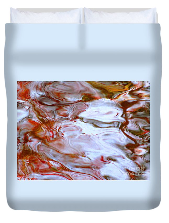 Abstract Duvet Cover featuring the photograph Nothing Is Sanctioned by Sybil Staples