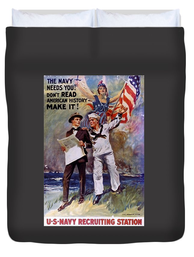 Flag Duvet Cover featuring the digital art Don't Read American History- Make It by Frederick Holiday