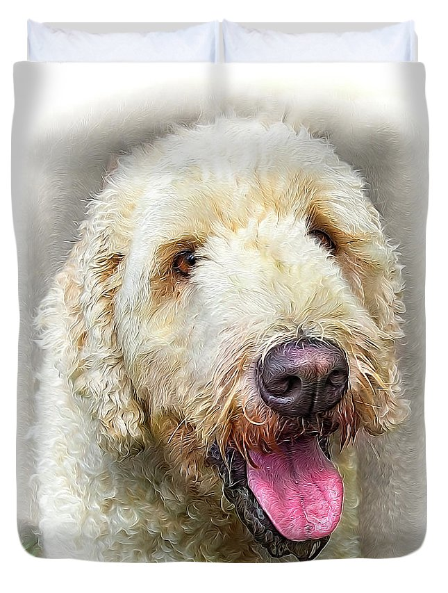 Dog Duvet Cover featuring the photograph Doodle by Wayne Heim