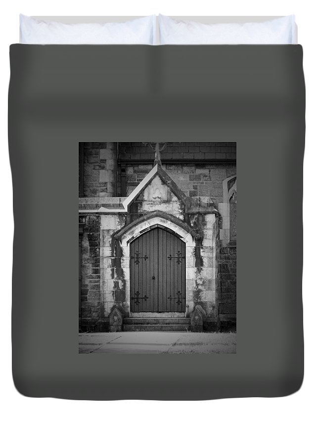 Irish Duvet Cover featuring the photograph Door At St. Johns In Tralee Ireland by Teresa Mucha