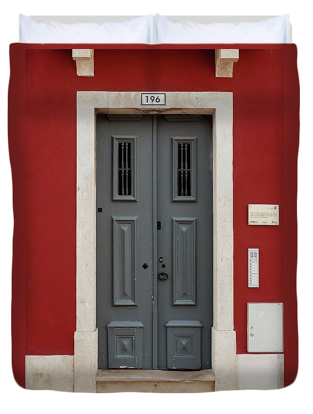 Classic Duvet Cover featuring the photograph Door No 196 by Marco Oliveira
