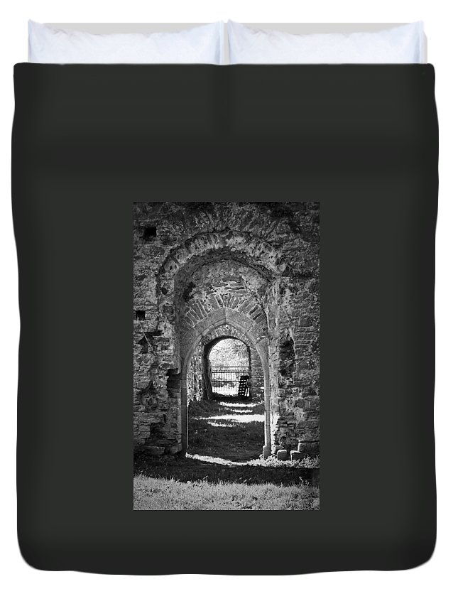 Irish Duvet Cover featuring the photograph Doors At Ballybeg Priory In Buttevant Ireland by Teresa Mucha