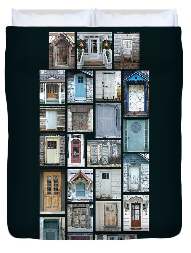 Doors Duvet Cover featuring the photograph Doors Of Door County Poster by Tim Nyberg