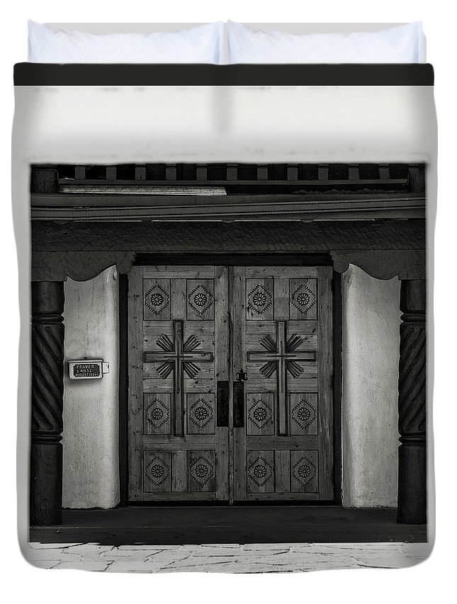 Duvet Cover featuring the photograph Doors Of Opportunity by Timothy Princehorn