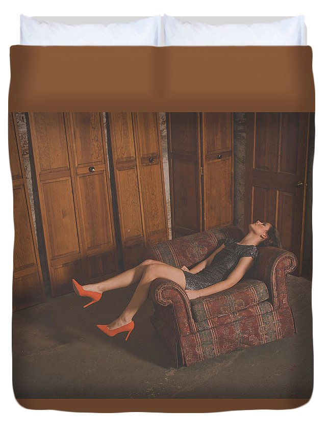 Girl Duvet Cover featuring the photograph Doors by Thomas Jerusalem