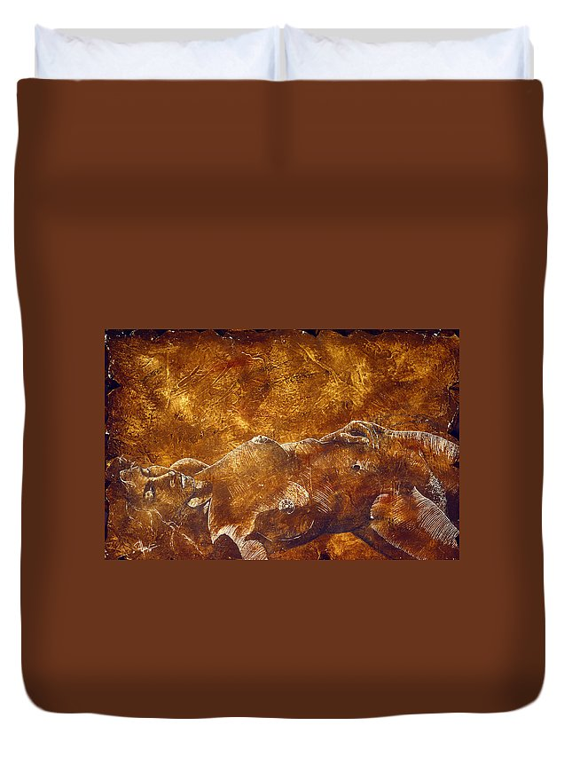 Nude Duvet Cover featuring the painting Dorothy Iv by Richard Hoedl
