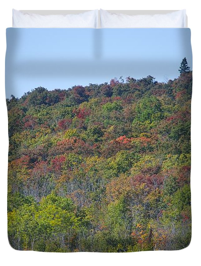 Minnesota Duvet Cover featuring the photograph Dots Of Fall Colors by Hella Buchheim