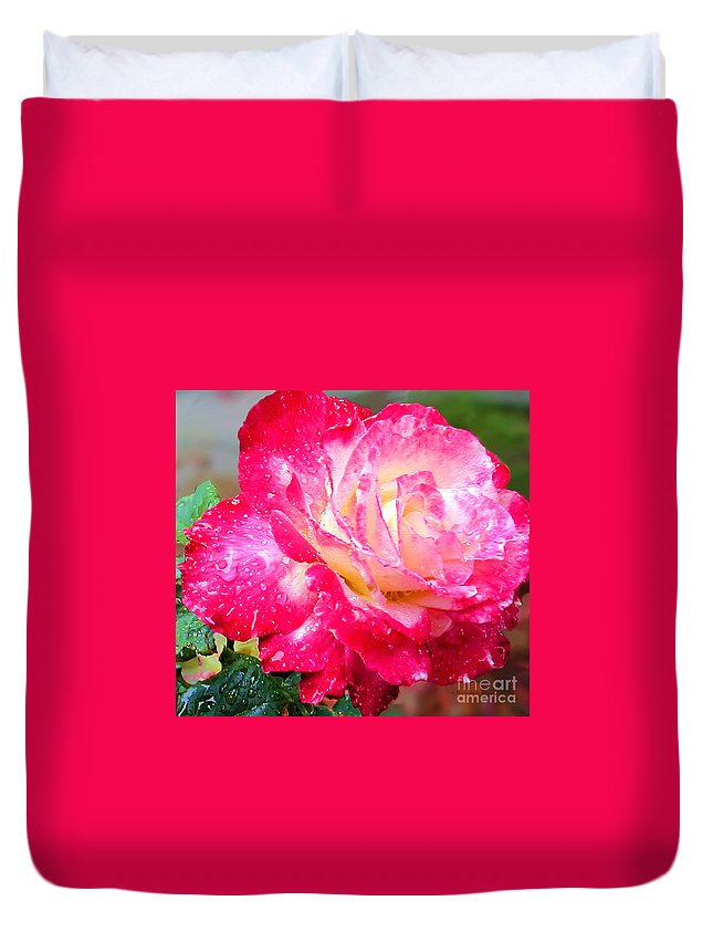 Fine Art Photography Duvet Cover featuring the photograph Double Delight by Patricia Griffin Brett