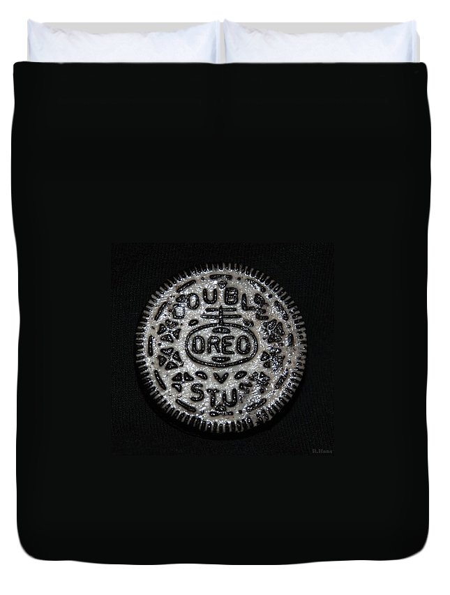 Oreo Duvet Cover featuring the photograph Double Stuff Oreo by Rob Hans