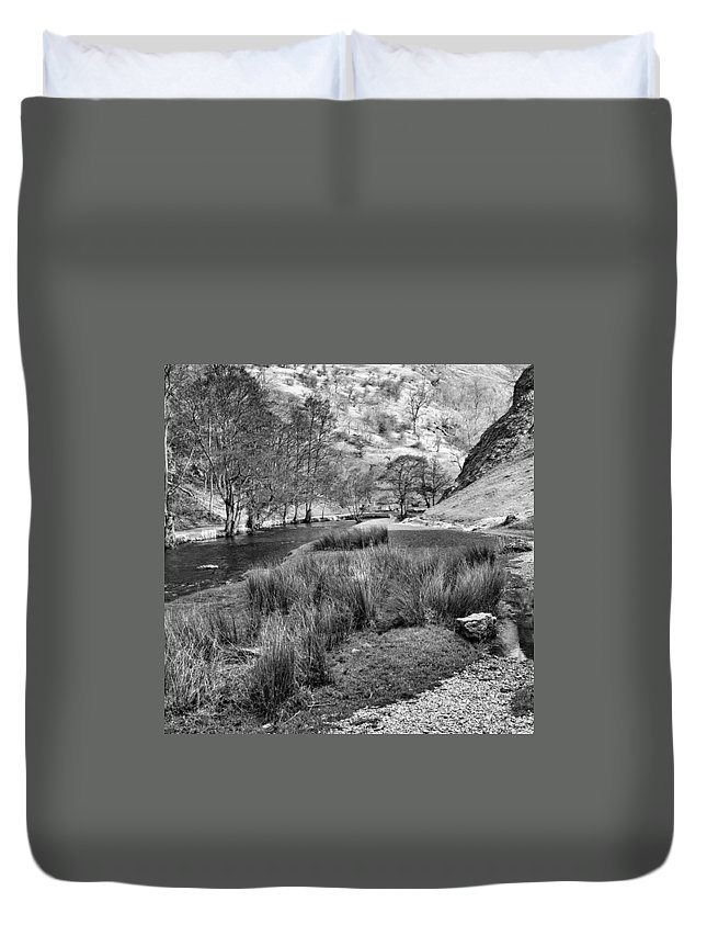 Dale Duvet Cover featuring the photograph Dovedale, Peak District Uk by John Edwards