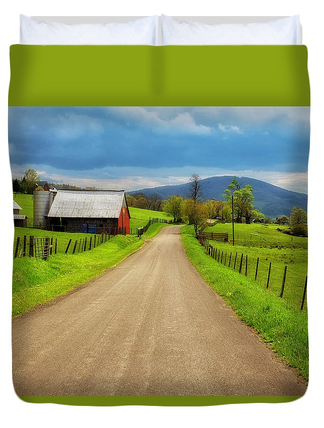Virginia Duvet Cover featuring the photograph Down A Country Lane by Anthony Zeljeznjak