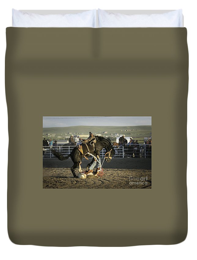 Montana Duvet Cover featuring the photograph Down And Out by Timothy Hacker
