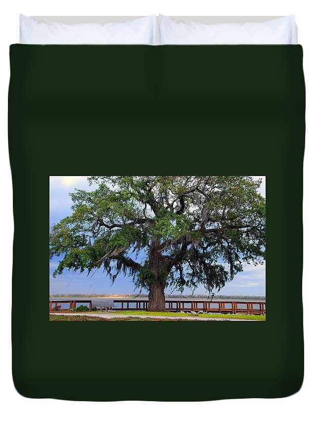 Photography Duvet Cover featuring the photograph Down By The River Side by Susanne Van Hulst