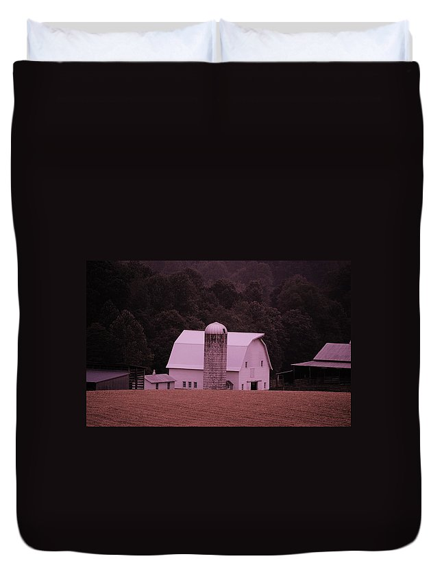 Barn Duvet Cover featuring the photograph Down on the Farm by Eric Liller